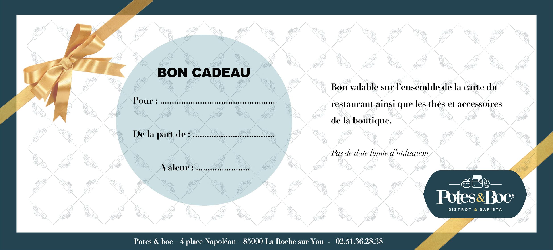 Carte Cadeau Restaurant.Bon Cadeau Pote Boc Bistrot Barista Bistrot Coffee Shop